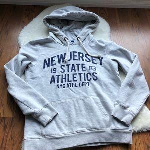 ASOS Brave Soul Grey fleece lined hoodie w/pocket